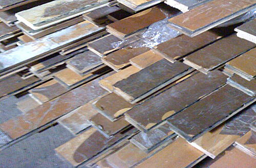 """Rescued Maple™ reclaimed wood flooring """"as is"""" (with original finish)"""
