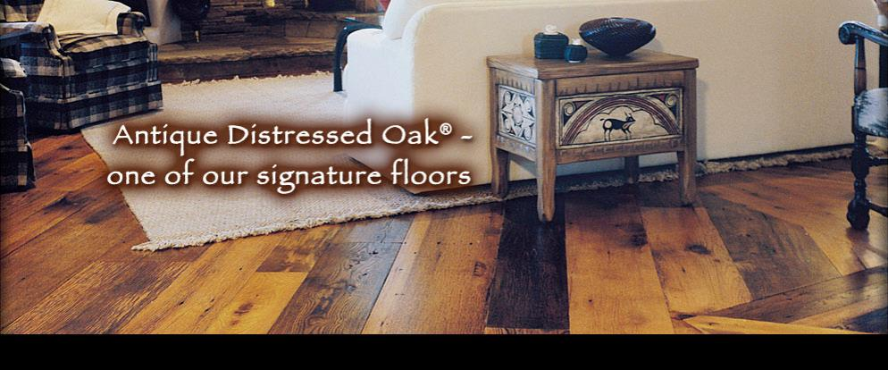 Antique Distressed® Oak - Private Residence - Santa Fe, NM
