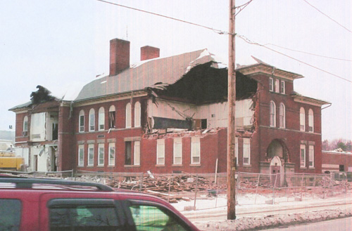 J S Bunnell School under demolition