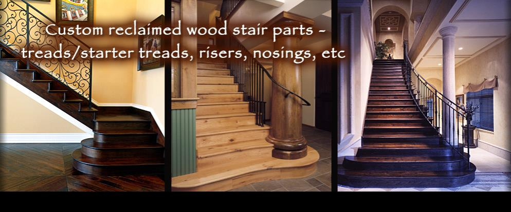 Complete your reclaimed wood floor with a reclaimed wood staircase!