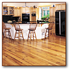 Reclaimed Wood Remilled Oak Flooring - Local Kitchen