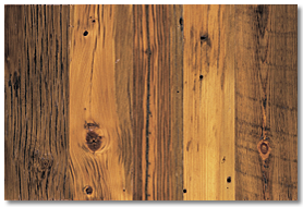 Reclaimed Wood Distressed Yellow Pine Flooring - Panel