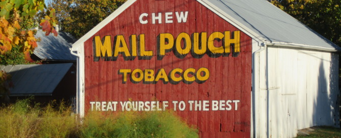 A Mail Pouch Barn recently repainted near Ephrata, PA