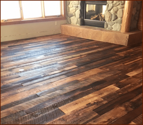 Reclaimed Mixed Hardwoods Skip-Planed