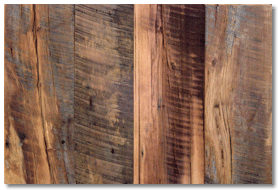 Reclaimed wood flooring - mixed hardwoods skip-planed