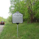 Virginia state historical marker near the Garrett Farm