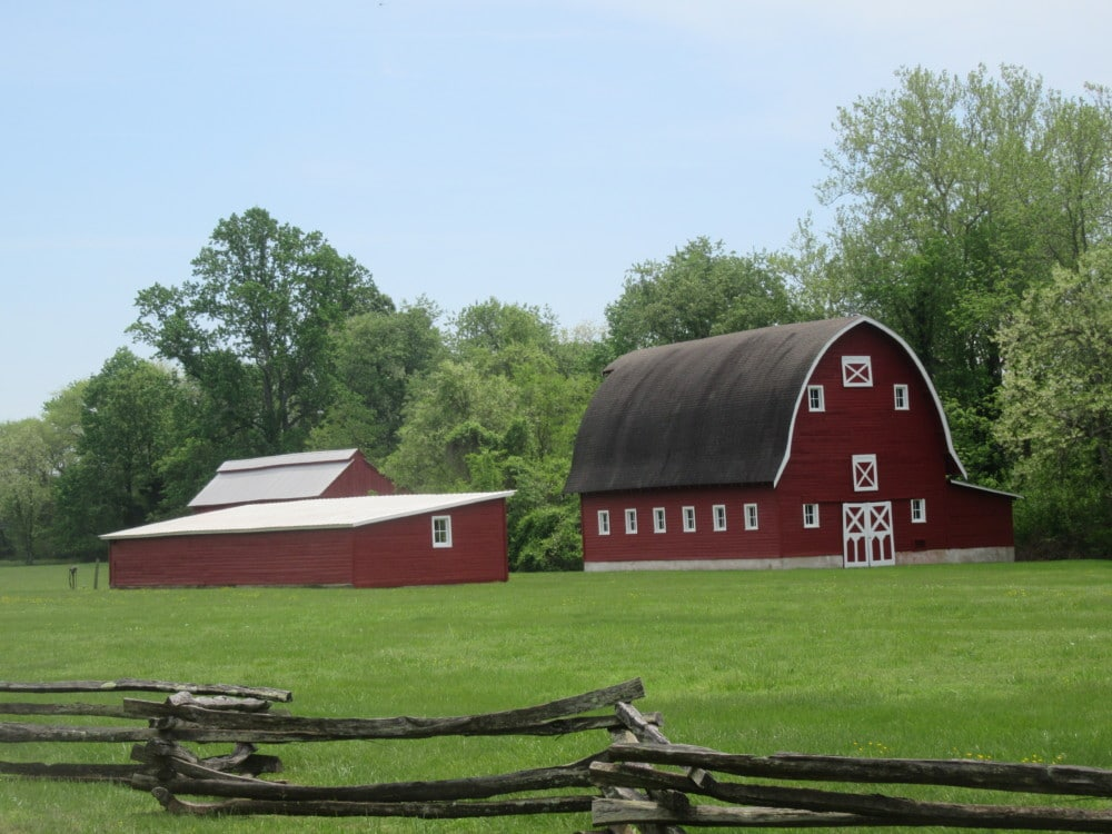 A red barn on the Western Shore of Maryland