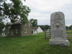 Slyder Farm with Sharpshooter Monument