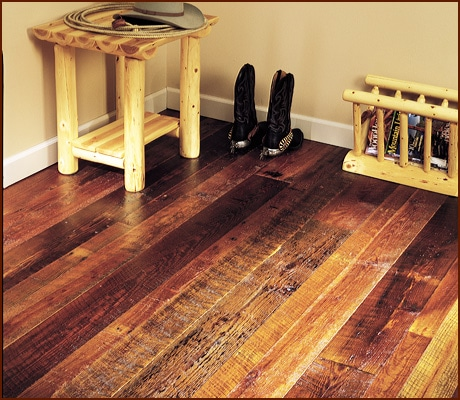 Reclaimed Yellow Pine Flooring Original Face Aged Woods