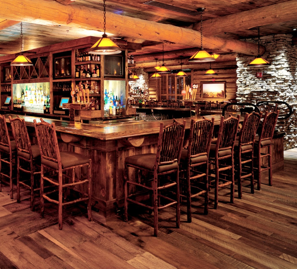 Oak Arbor Grille Pa: Reclaimed Wood Flooring Remilled From Old Barn Wood