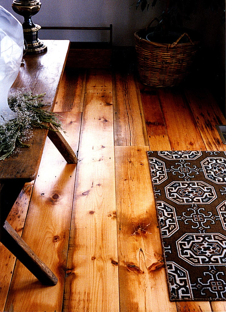 reclaimed white pine distressed herb table in idaho - Distressed Pine Flooring