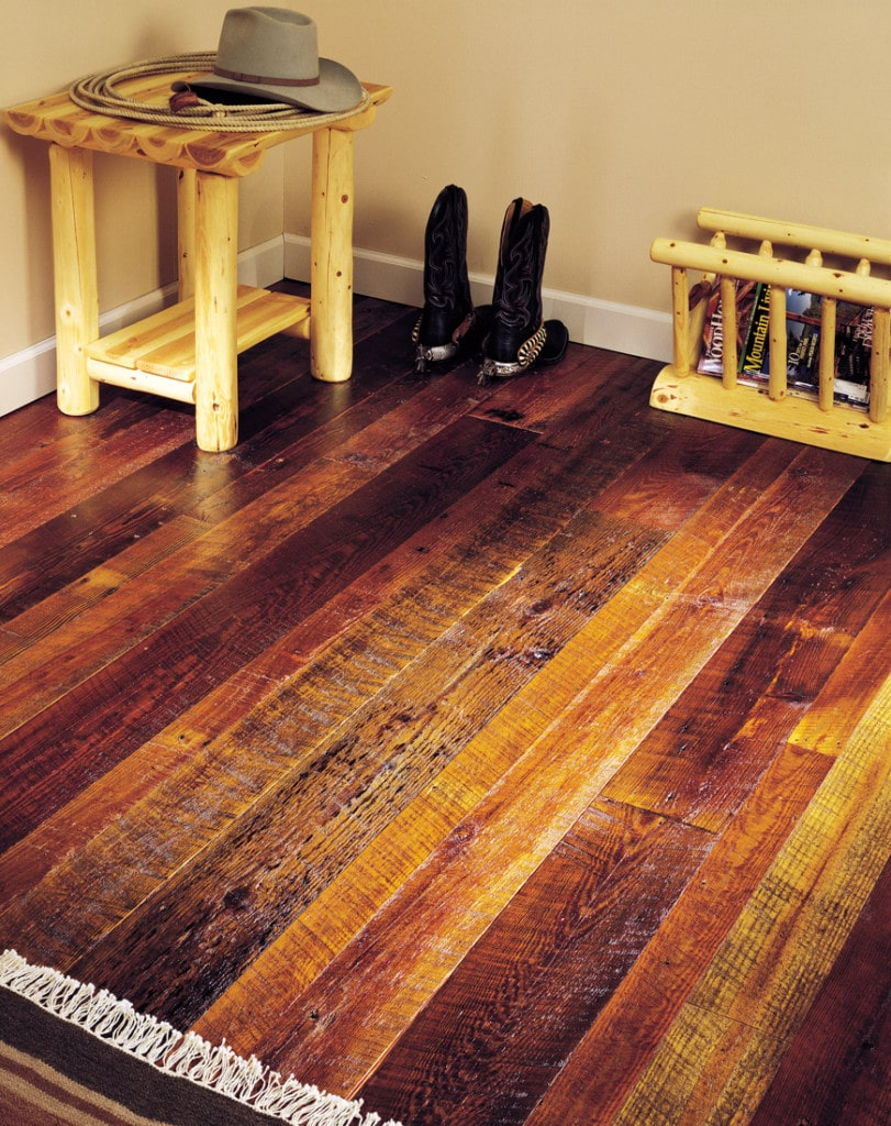 Reclaimed wood flooring remilled barn wood aged woods for Reclaimed hardwood flooring