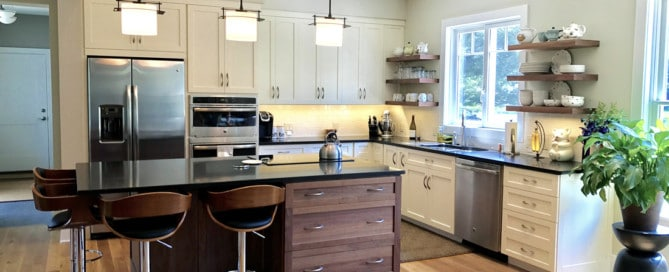 Selected Character White Oak Flooring installed in a State College Kitchen