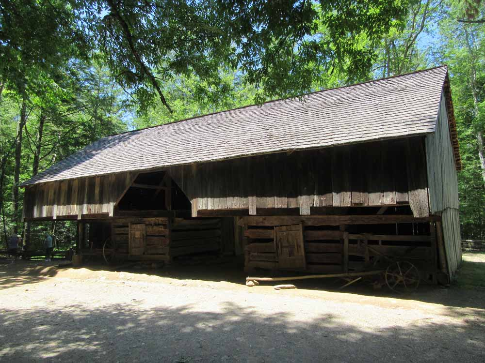 Cantilever Barn in Cade's Cove
