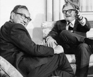 Nelson Rockefeller and Henry Kissinger in 1973