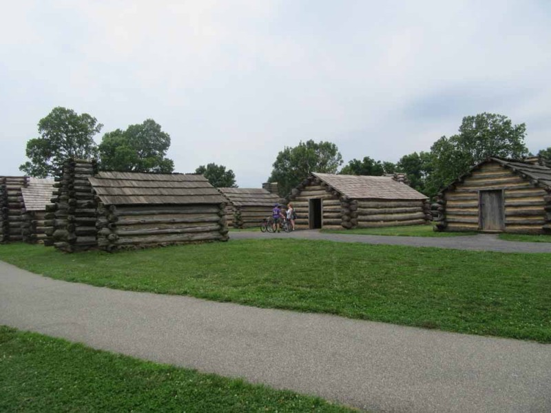 Reconstructed huts at Valley Forge