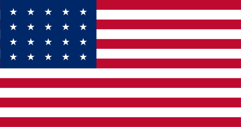 US Flag in 1818